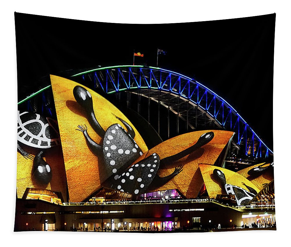 Vivid Tapestry featuring the photograph Vivid 16 by Ben Yassa