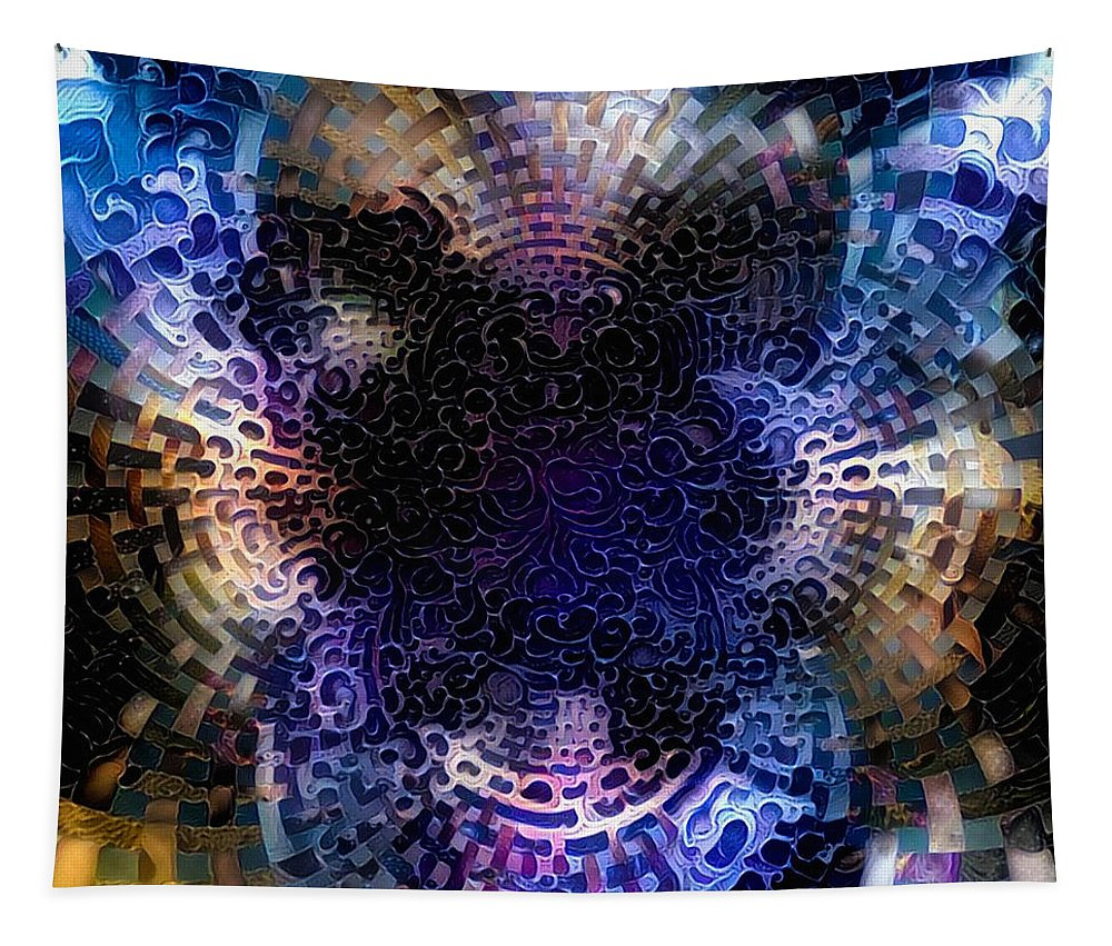 Fantasy Tapestry featuring the digital art Vivid Abstract by Bruce Rolff