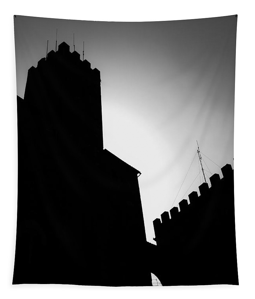 Shadow Tapestry featuring the photograph Volterra Italy by Edward Fielding