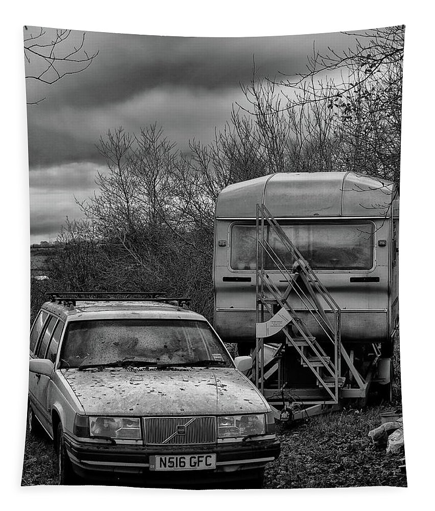 Volvo Tapestry featuring the photograph Volvo And Trailer by Philip Openshaw