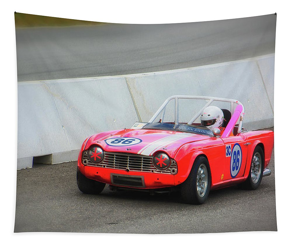 Motorsports Tapestry featuring the photograph Vscca 86 by Mike Martin