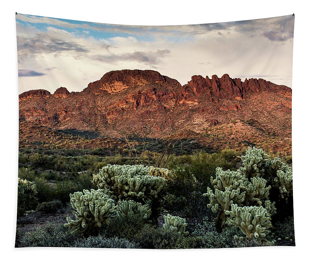Vulture Peak Tapestry featuring the photograph Vulture Peak by Charles Scrofano Jr