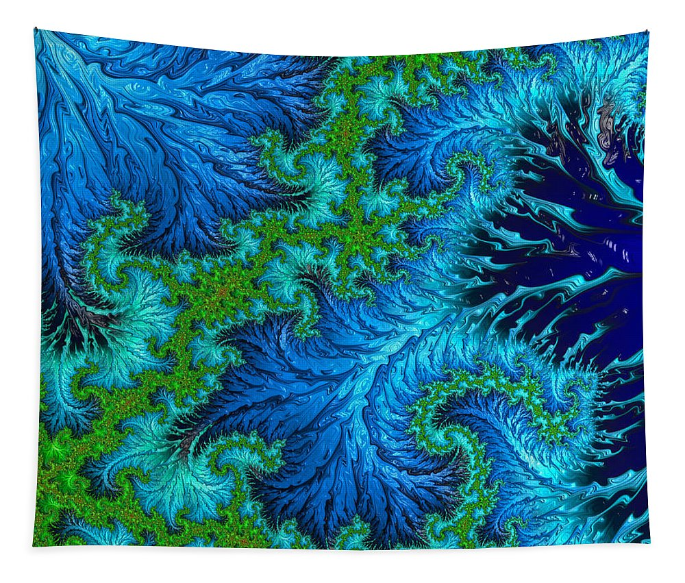 Fractal Tapestry featuring the digital art Fractal Art - Wading In The Deep by HH Photography of Florida