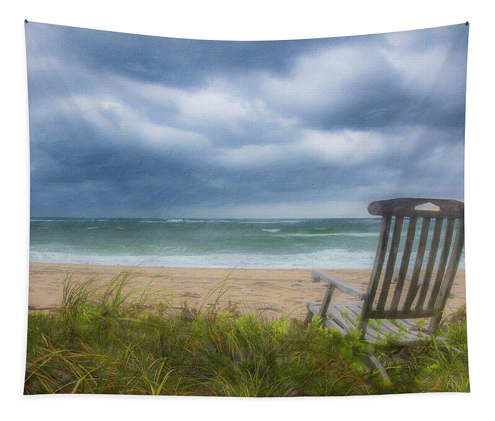 Clouds Tapestry featuring the photograph Waiting For Sunrise On The Dunes by Debra and Dave Vanderlaan