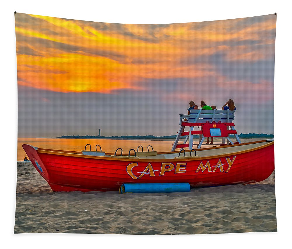 Sunset Tapestry featuring the photograph Waiting For Sunset by Nick Zelinsky