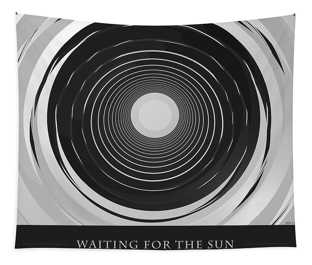 Digital Art Tapestry featuring the digital art Waiting For The Sun by Phil Perkins