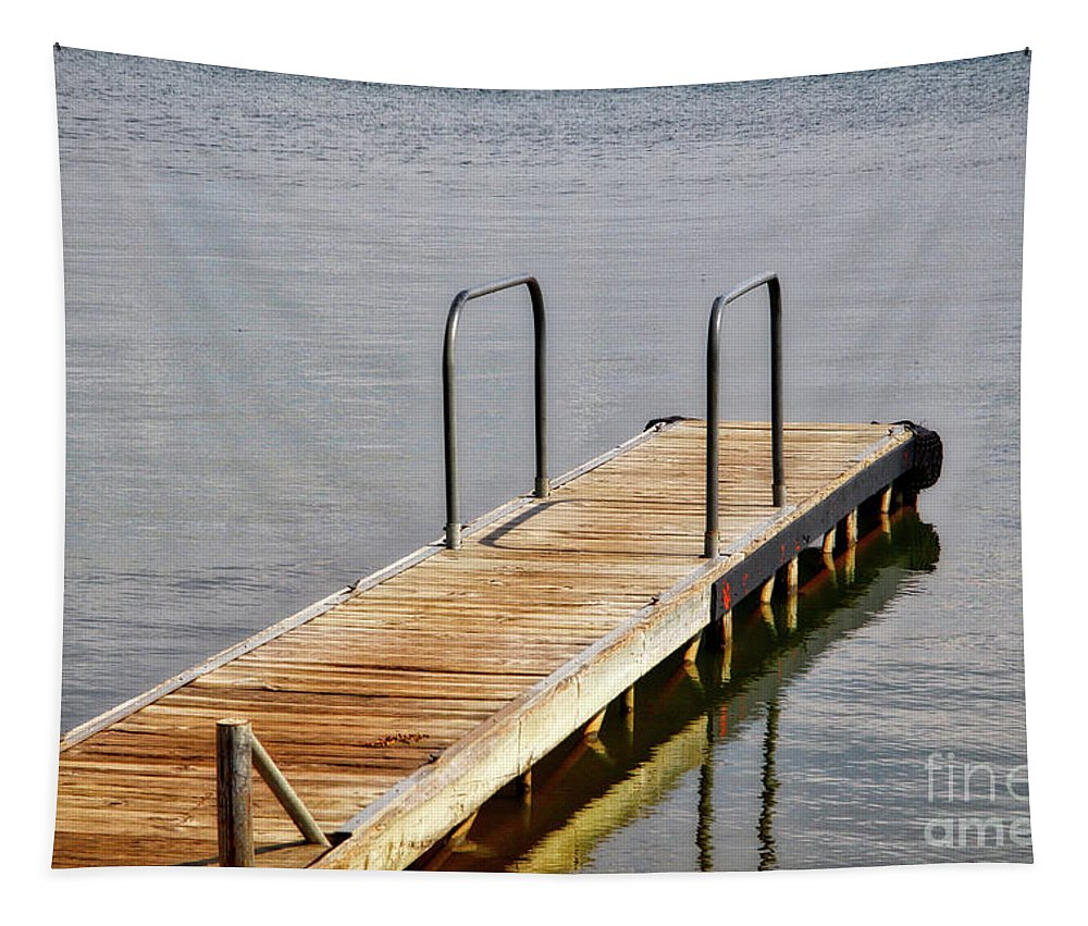 Boat Dock Tapestry featuring the photograph Waiting by Linda James