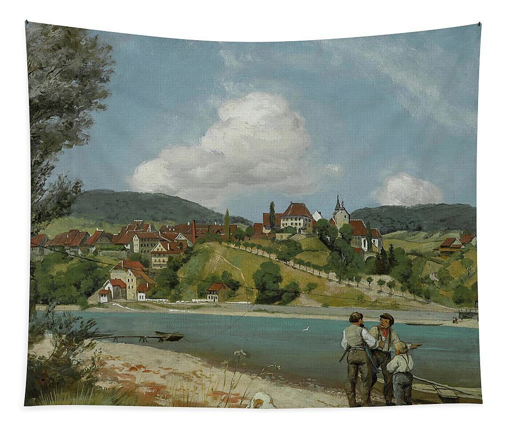 Painting Tapestry featuring the painting Waldshut by Mountain Dreams