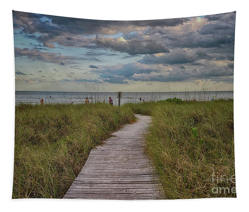 Landscape Tapestry featuring the photograph Walkway To The Beach by Deborah Benoit