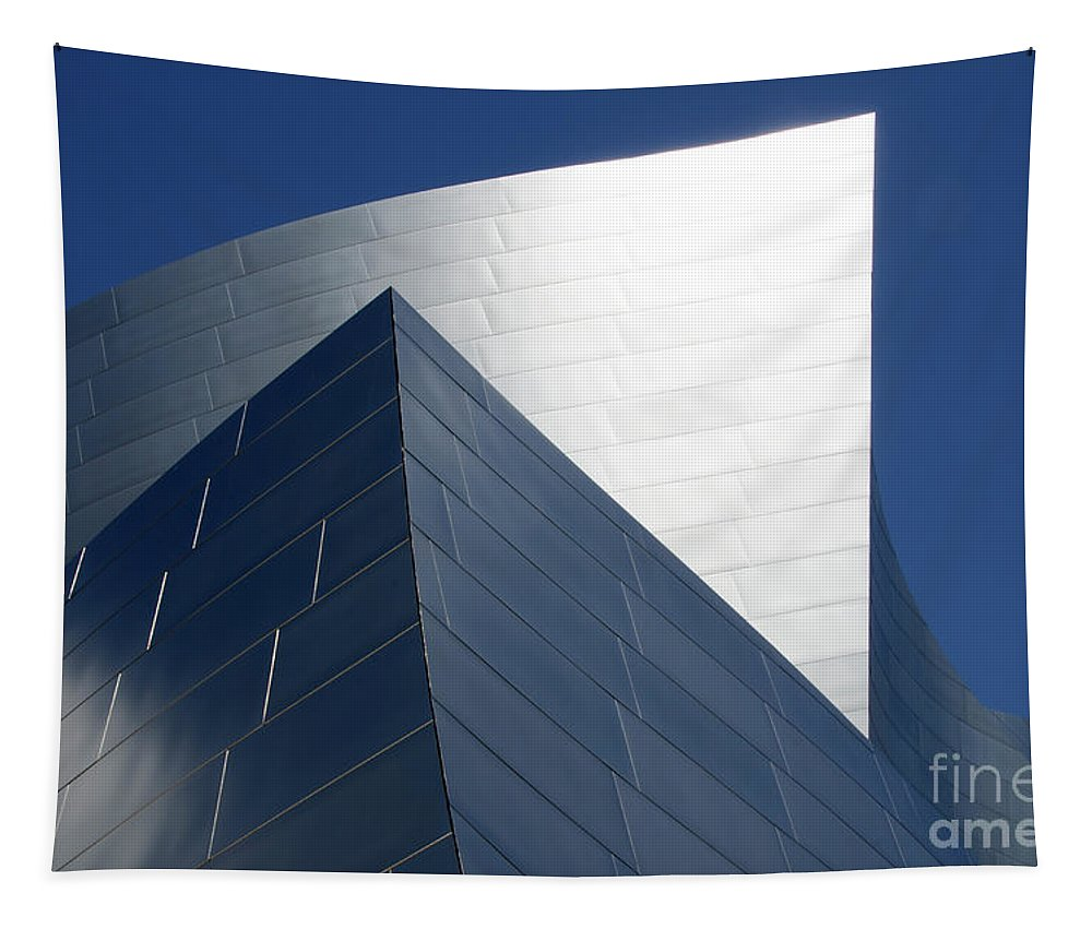 Disney Tapestry featuring the photograph Walt Disney Concert Hall 42 by Bob Christopher