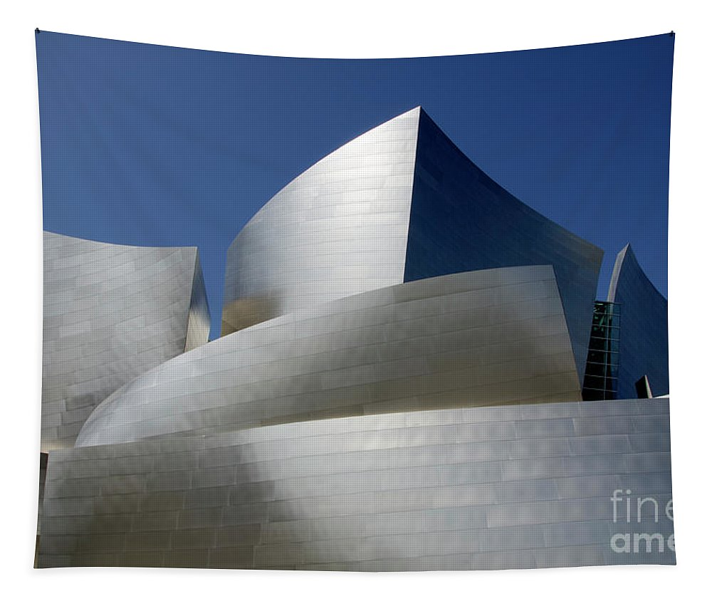 Disney Tapestry featuring the photograph Walt Disney Concert Hall 45 by Bob Christopher