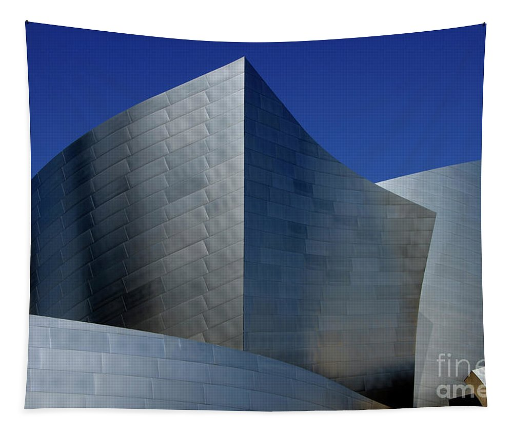 Disney Tapestry featuring the photograph Walt Disney Concert Hall 46 by Bob Christopher