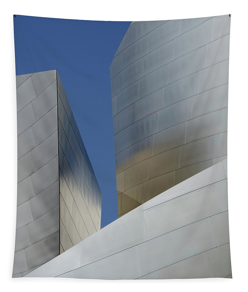 Disney Tapestry featuring the photograph Walt Disney Concert Hall 47 by Bob Christopher