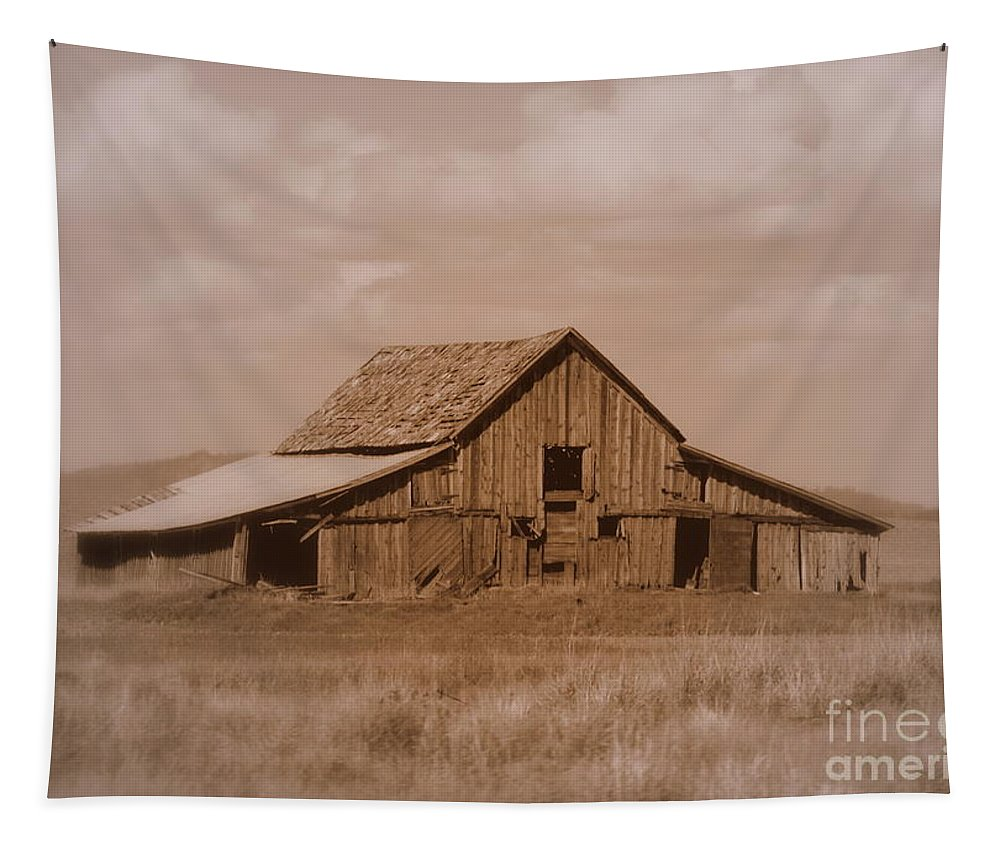 Old Barn Tapestry featuring the photograph Warm Memories by Carol Groenen