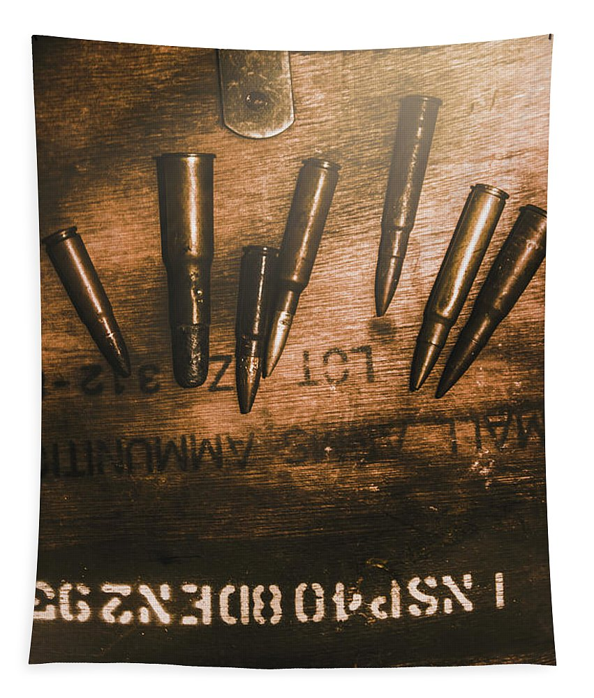 Army Tapestry featuring the photograph Wars And Old Ammunition by Jorgo Photography - Wall Art Gallery