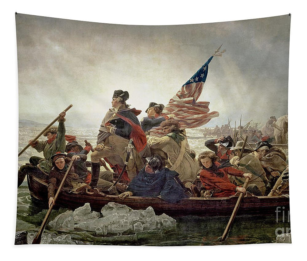 Washington Tapestry featuring the painting Washington Crossing The Delaware River by Emanuel Gottlieb Leutze