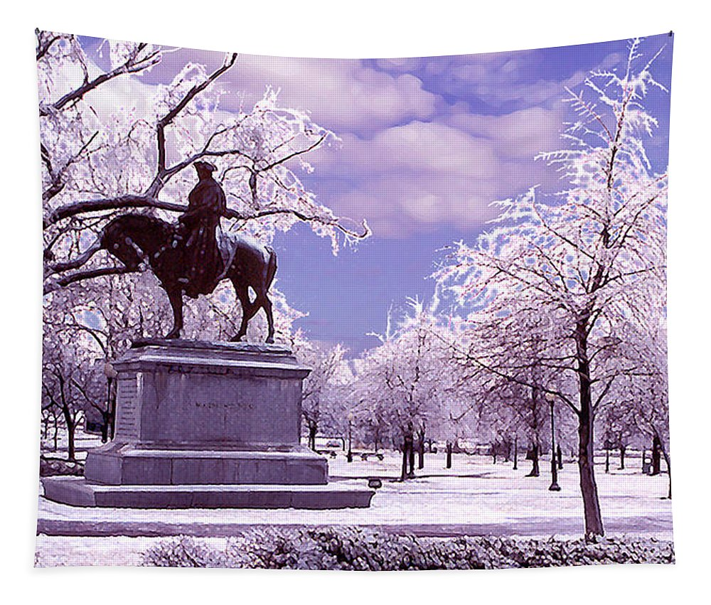Landscape Tapestry featuring the photograph Washington Square Park by Steve Karol