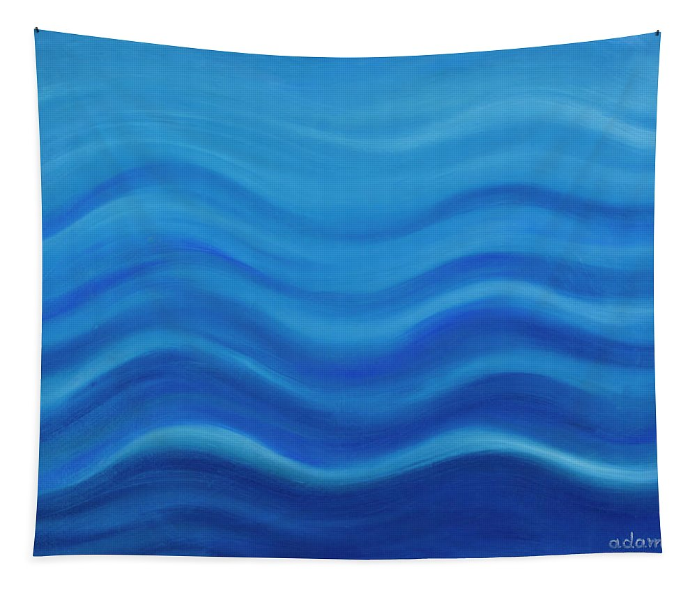 Water Tapestry featuring the painting Water by Adamantini Feng shui
