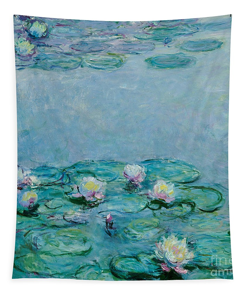 French Tapestry featuring the painting Water Lilies by Claude Monet