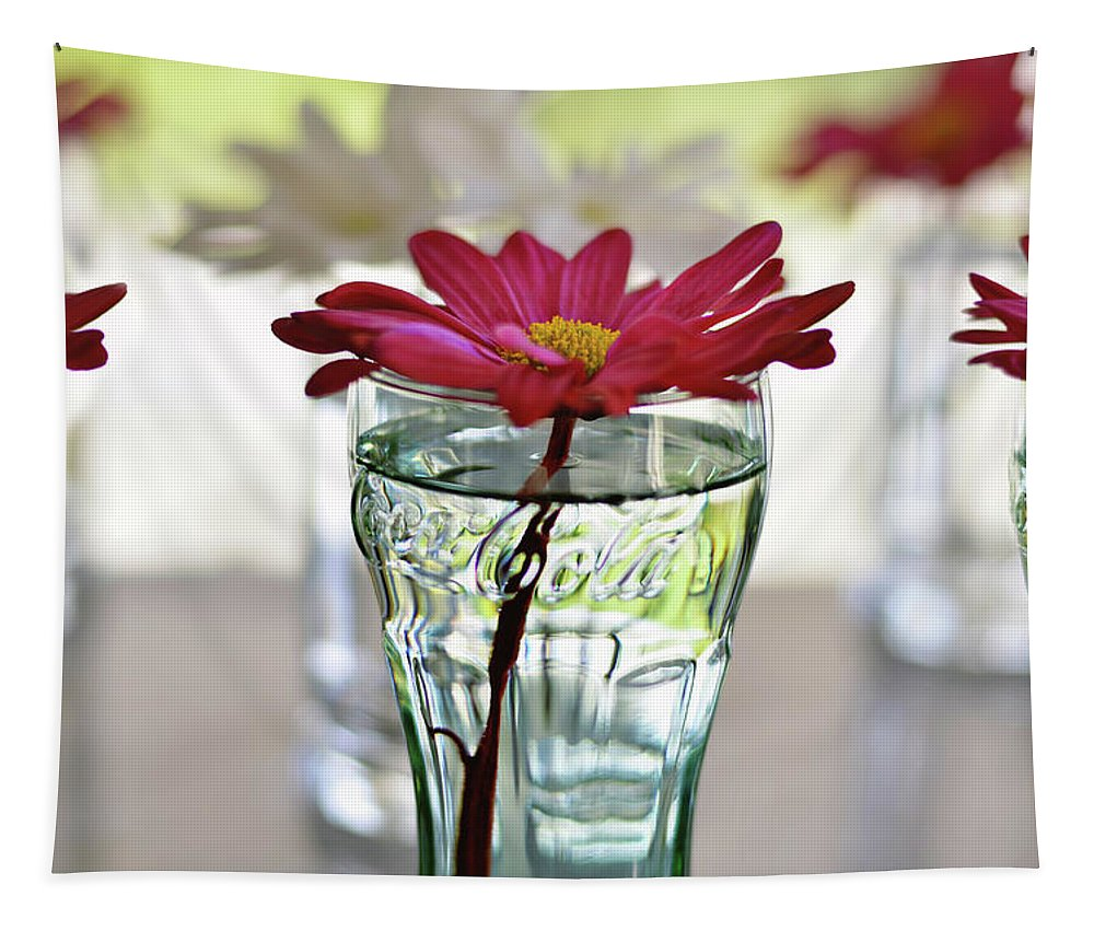 Flower Tapestry featuring the photograph Water Lovers by Laura Fasulo