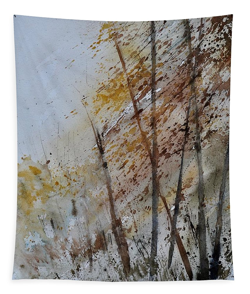 Landscape Tapestry featuring the painting Watercolor 010104 by Pol Ledent