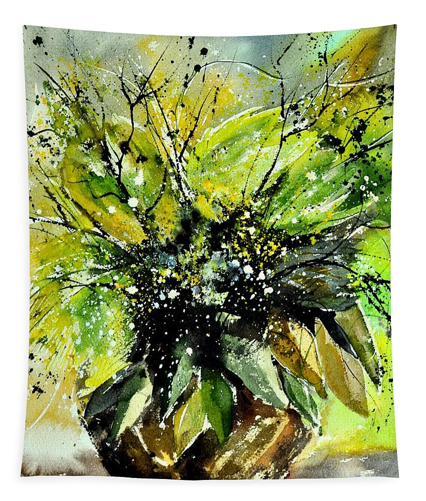 Flowers Tapestry featuring the painting Watercolor 016070 by Pol Ledent