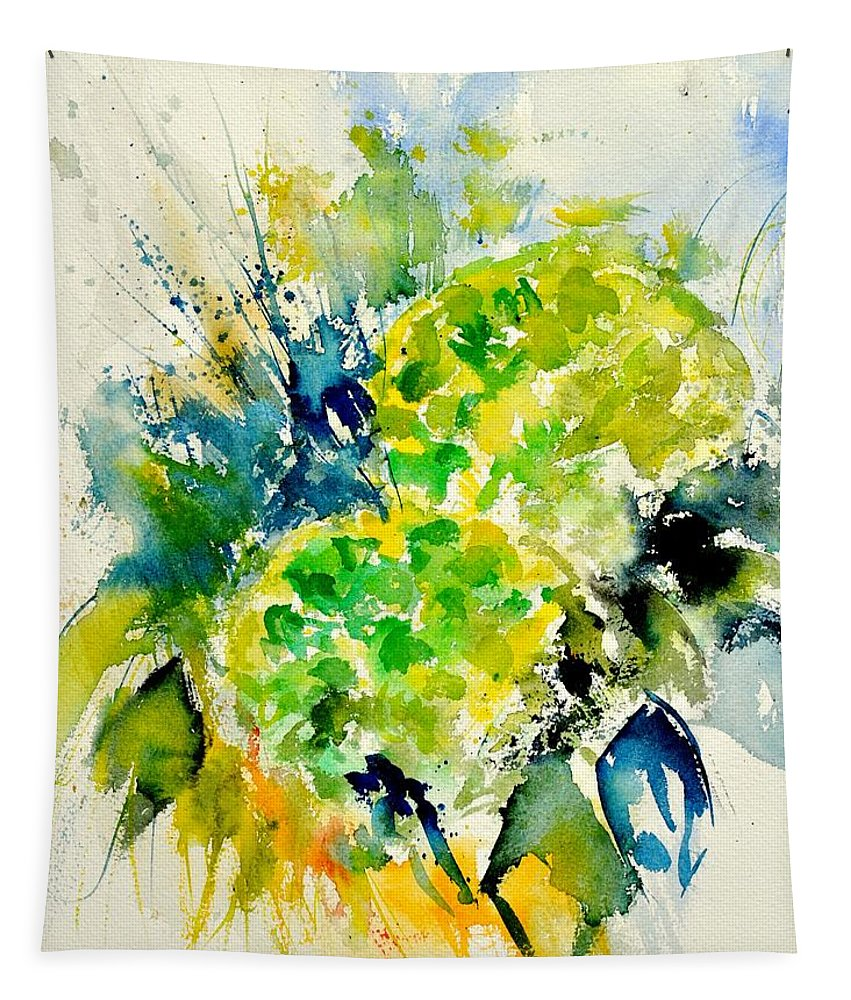 Flowers Tapestry featuring the painting Watercolor 017050 by Pol Ledent