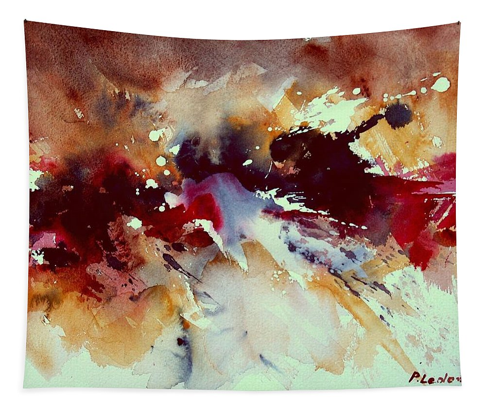 Abstract Tapestry featuring the painting Watercolor 301107 by Pol Ledent