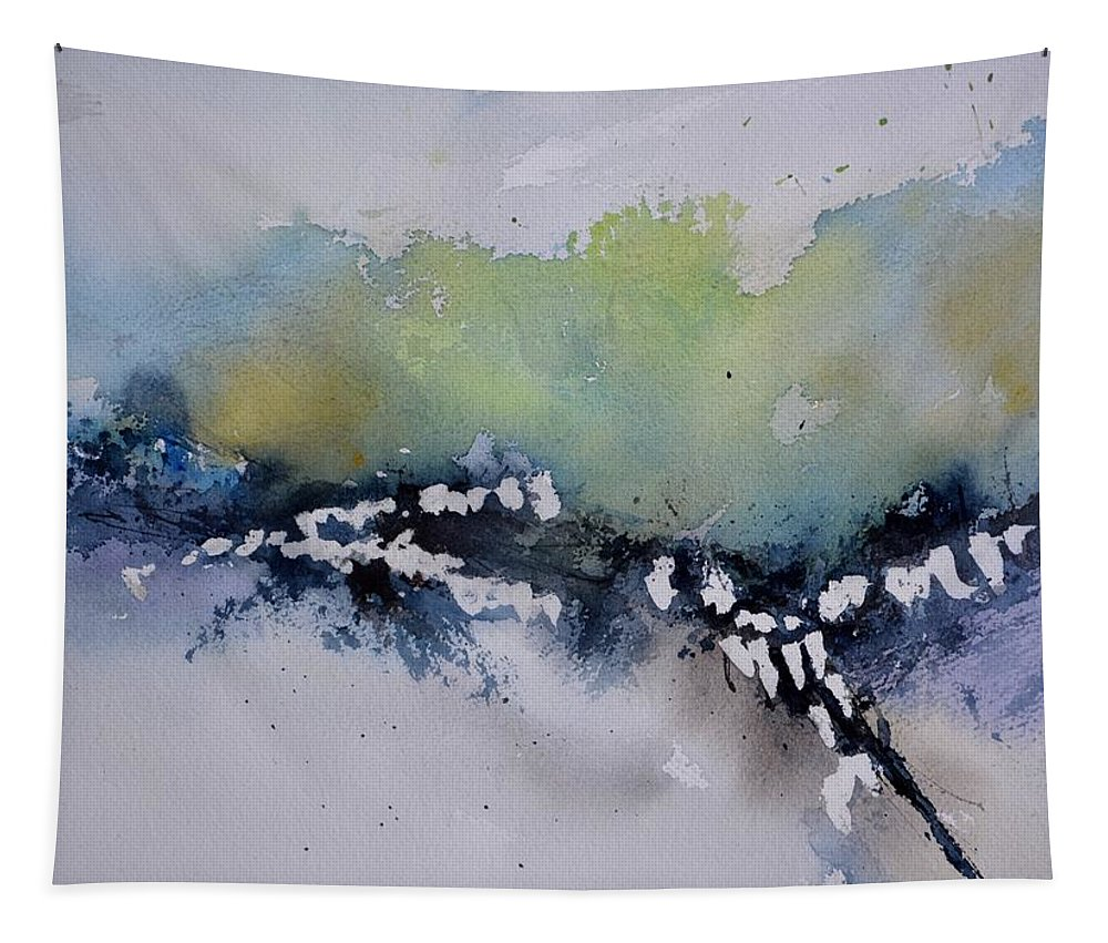Abstract Tapestry featuring the painting Watercolor 615032 by Pol Ledent