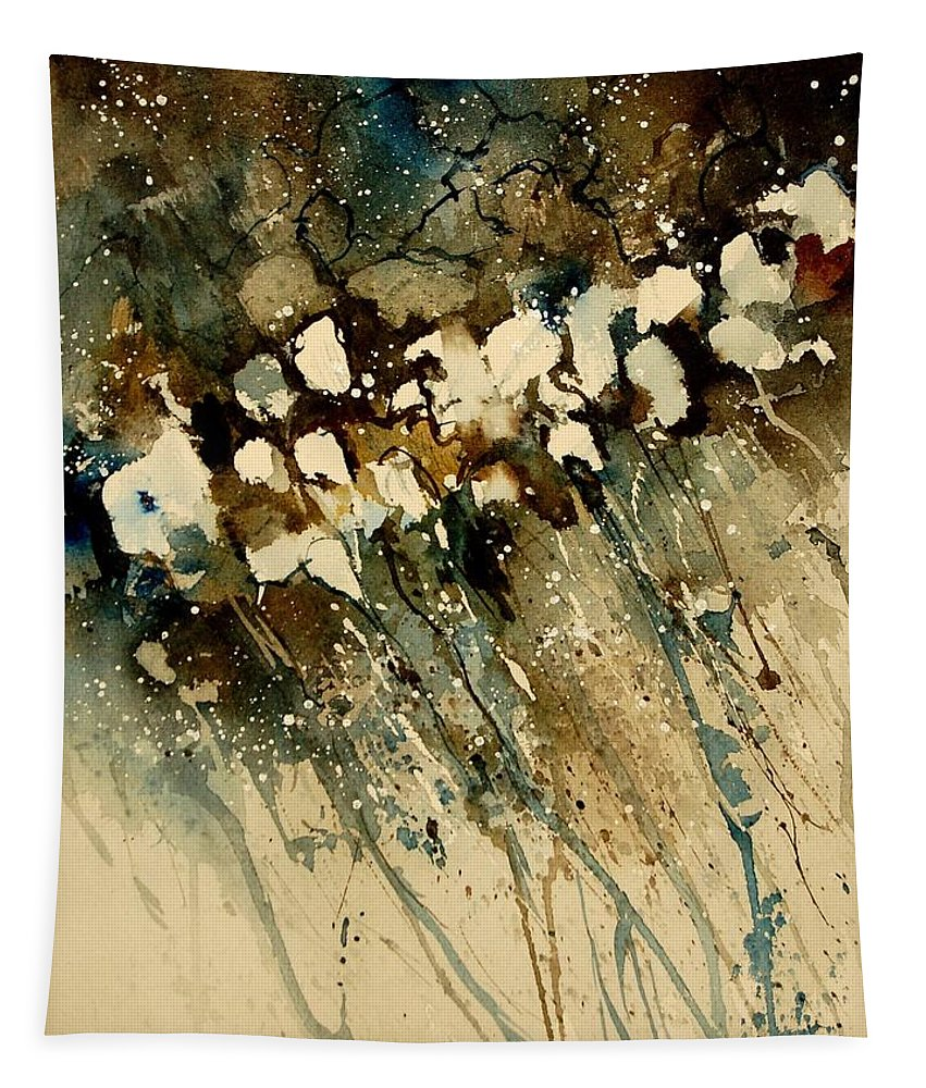 Abstract Tapestry featuring the painting Watercolor 901140 by Pol Ledent