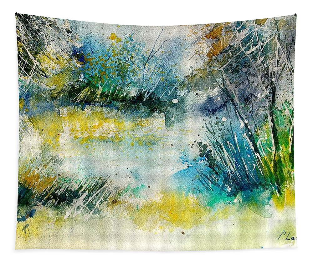 Water Tapestry featuring the painting Watercolor 906020 by Pol Ledent
