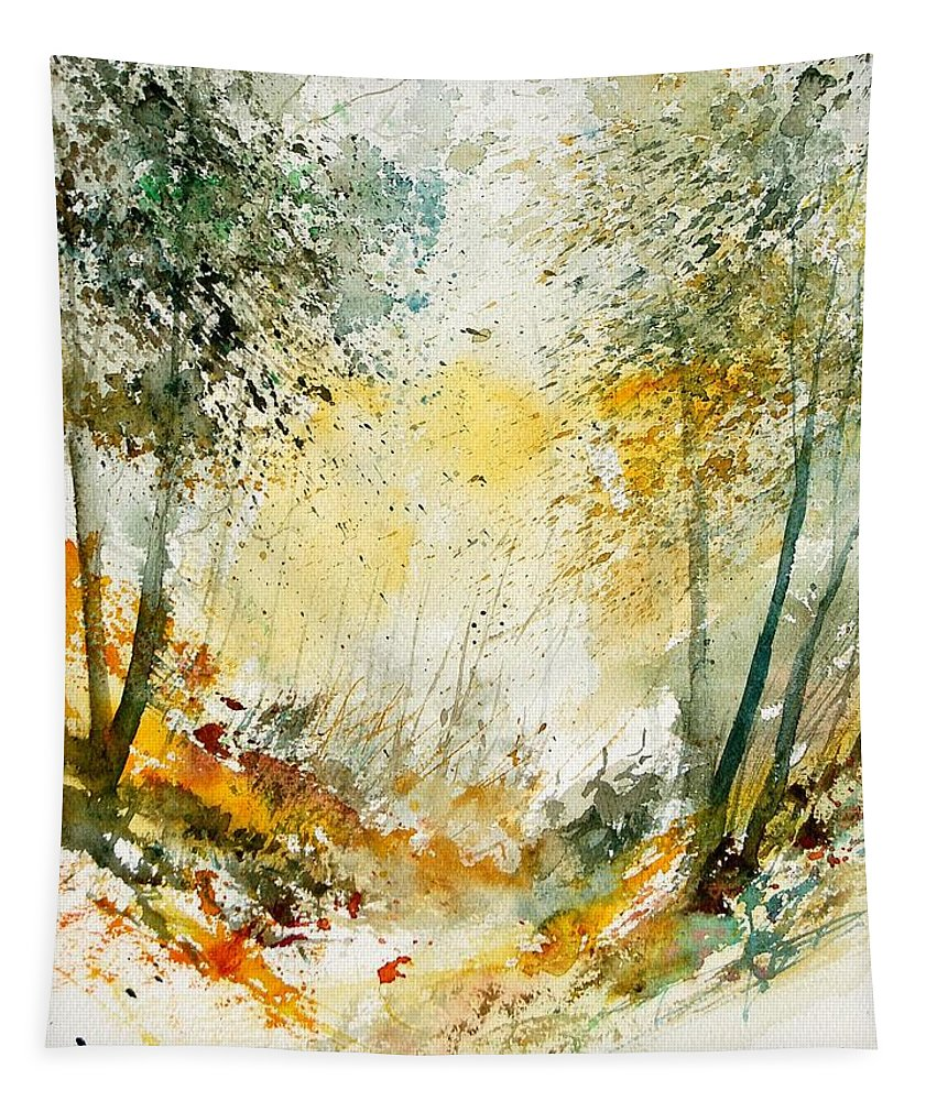 Tree Tapestry featuring the painting Watercolor 908021 by Pol Ledent