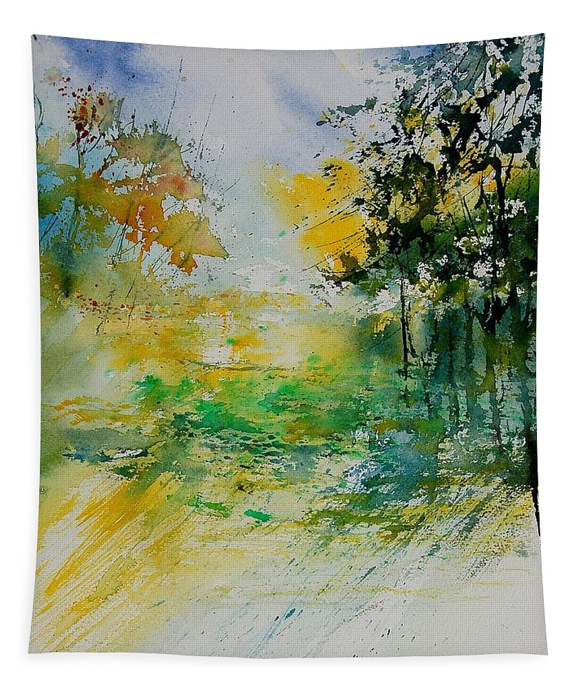 Water Tapestry featuring the painting Watercolor 908051 by Pol Ledent