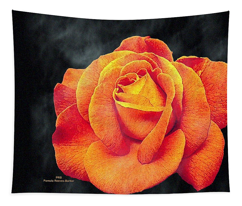 Rose Tapestry featuring the mixed media Watercolor Rose by Pamula Reeves-Barker