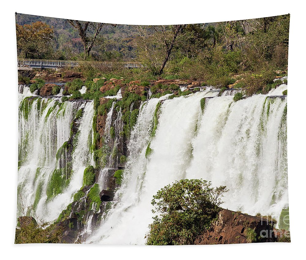 Nature Tapestry featuring the photograph Waterfalls by Mirko Chianucci