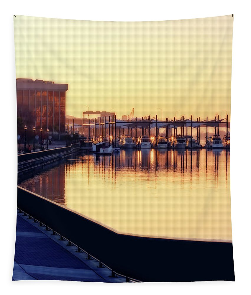 Water Tapestry featuring the digital art Waterfront Deep by Terry Davis