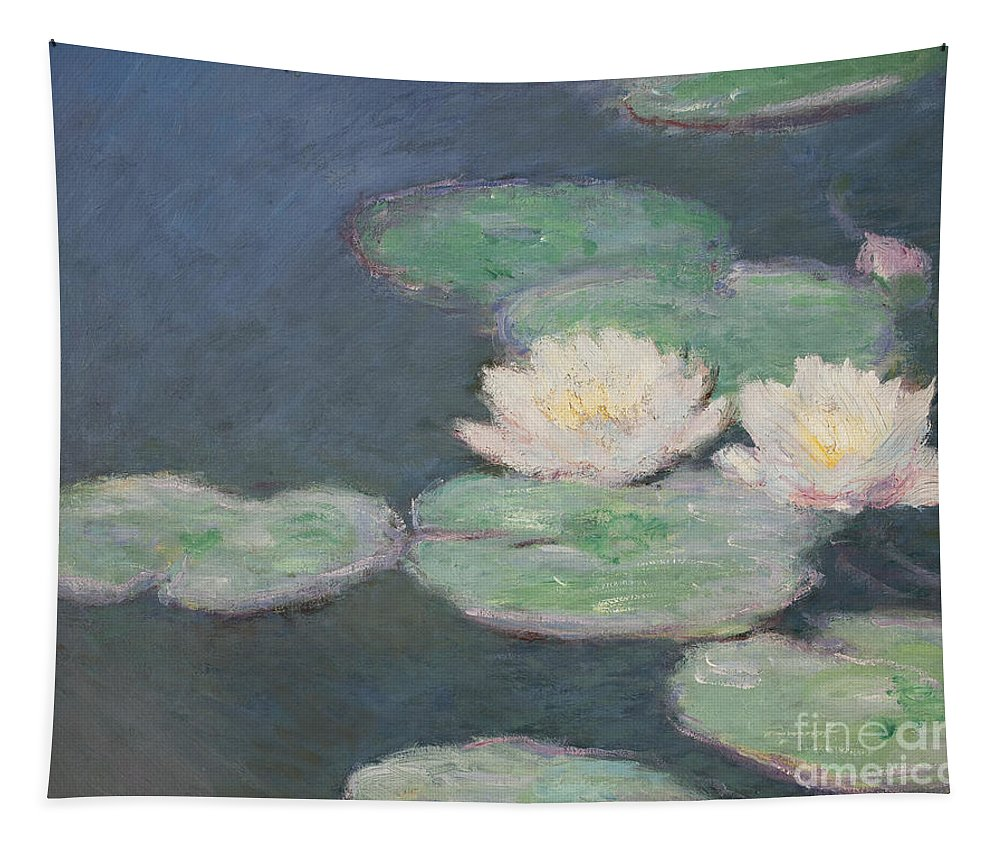 Waterlilies Tapestry featuring the painting Waterlilies by Claude Monet