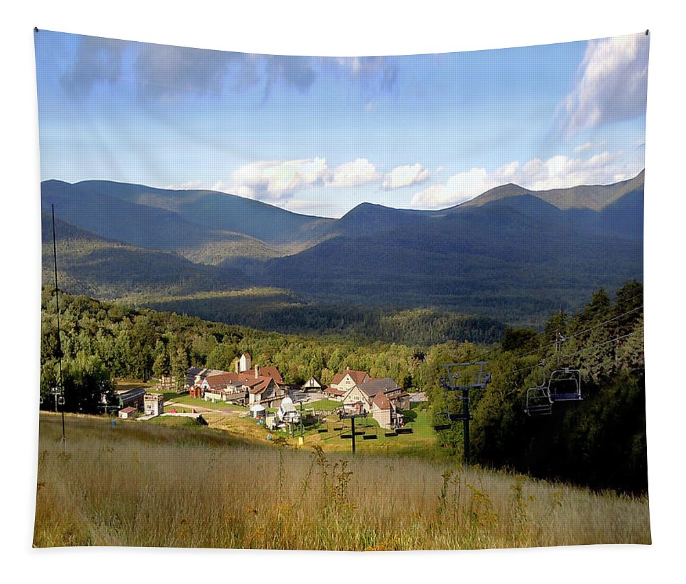 Waterville Valley Ski Area Tapestry featuring the photograph Waterville Valley Ski Area by Nancy Griswold