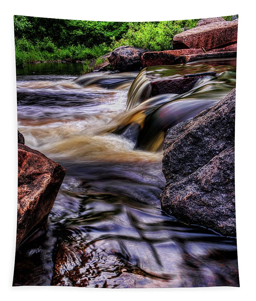 Dale Kauzlaric Tapestry featuring the photograph Wausau Whitewater Course Side View by Dale Kauzlaric