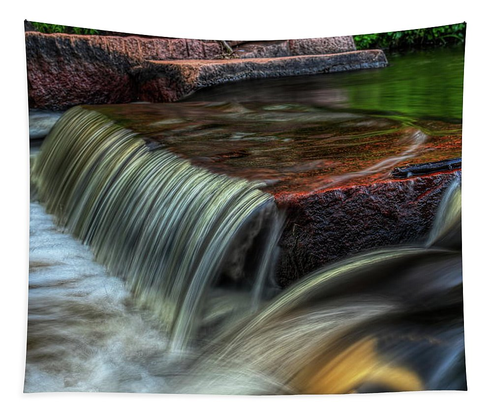 Dale Kauzlaric Tapestry featuring the photograph Wausau Whitewater Course Through Granite by Dale Kauzlaric