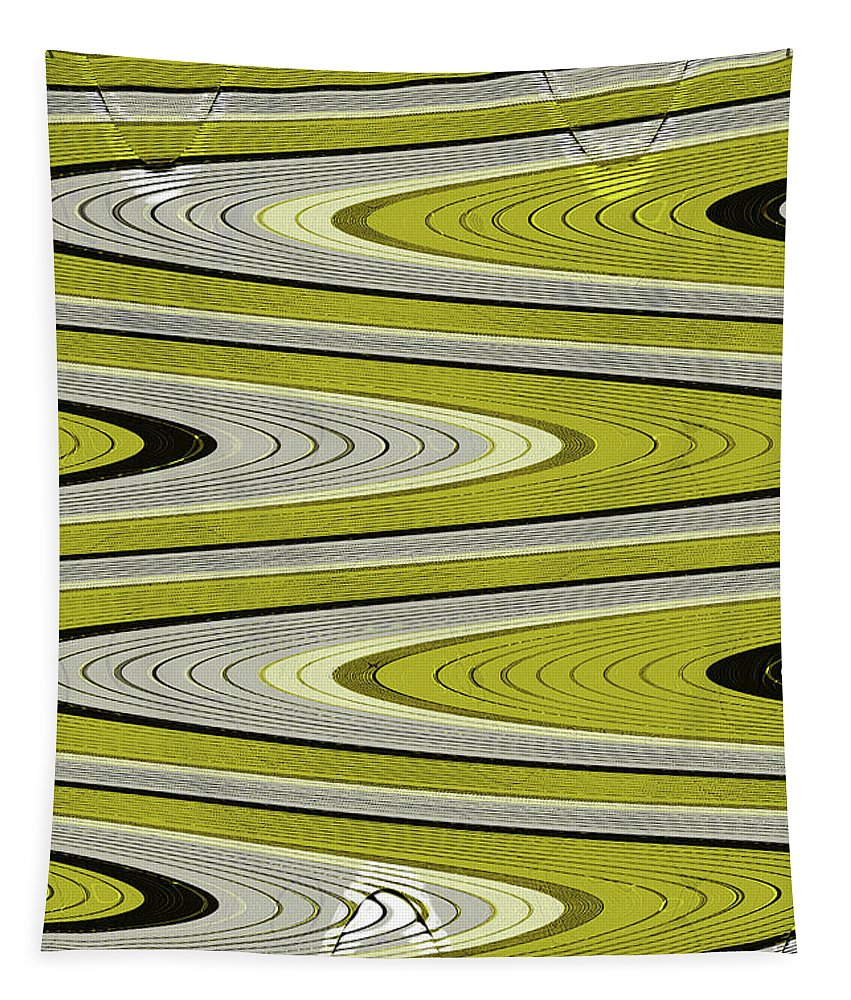 Wave Abstract Tapestry featuring the digital art Wave Abstract by Tom Janca