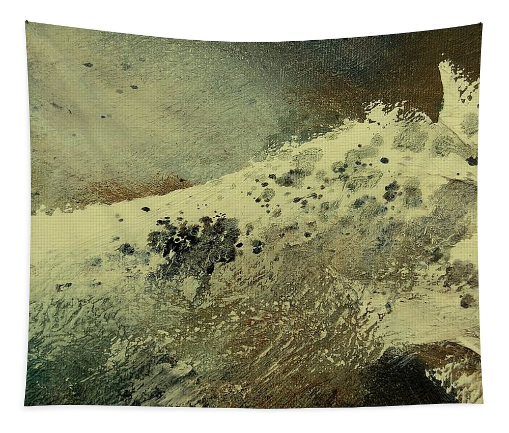 Sea Tapestry featuring the painting Wave by Pol Ledent