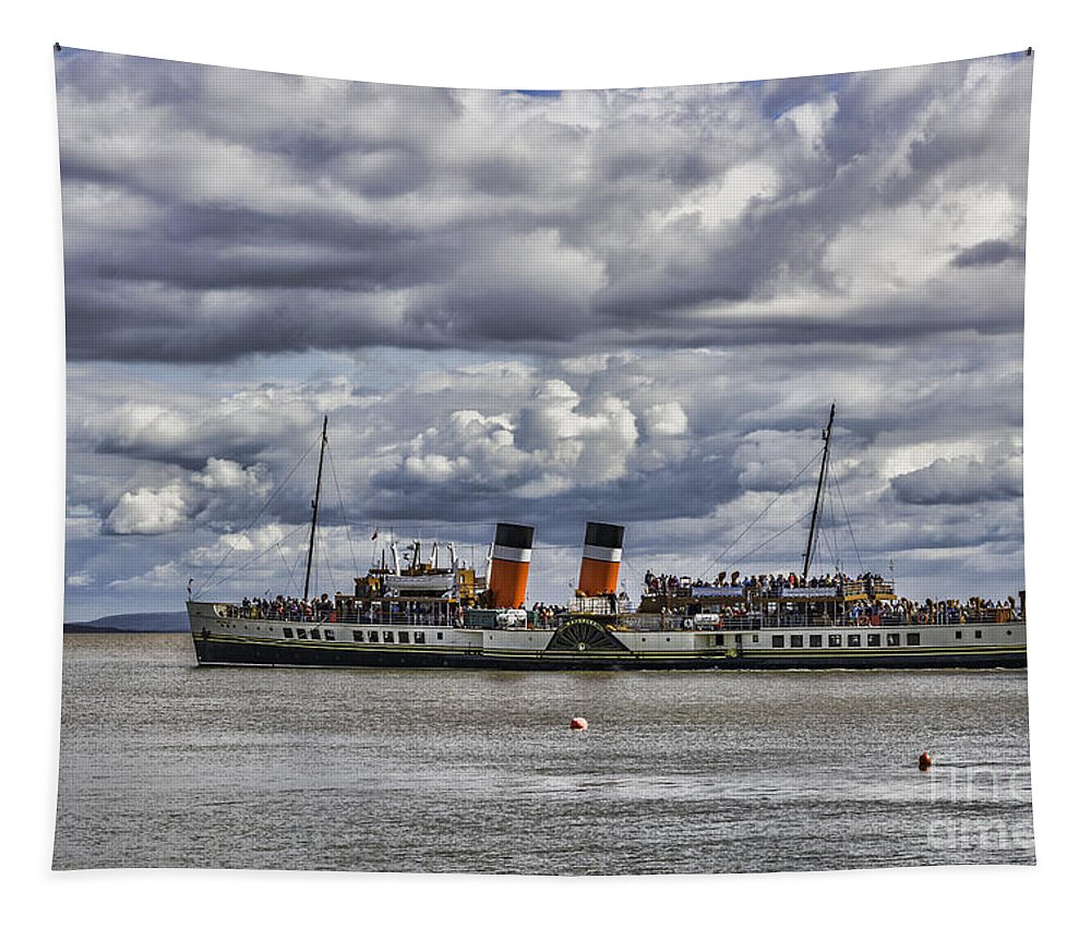 The Waverley Paddle Steamer Tapestry featuring the photograph Waverley Departs by Steve Purnell