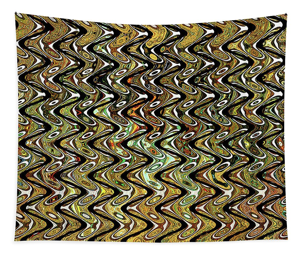 Wavy Waves Tapestry featuring the digital art Wavy Waves by Tom Janca