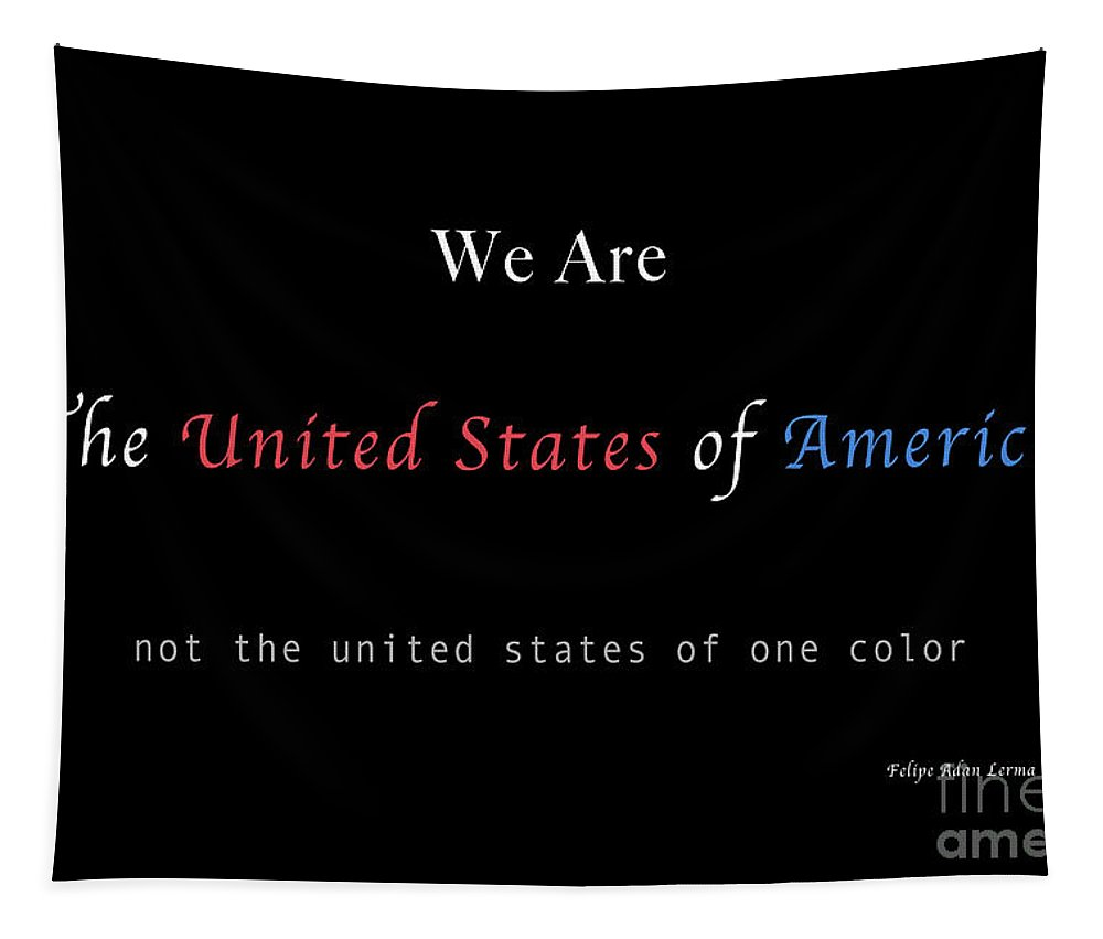 Patriotic Tapestry featuring the photograph We Are the United States of America by Felipe Adan Lerma