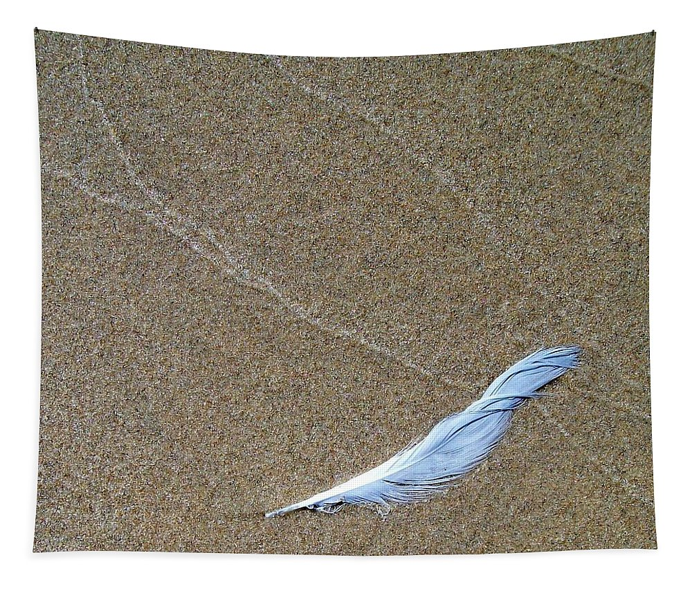 Zen Tapestry featuring the photograph Weathered Feather by Michelle Calkins