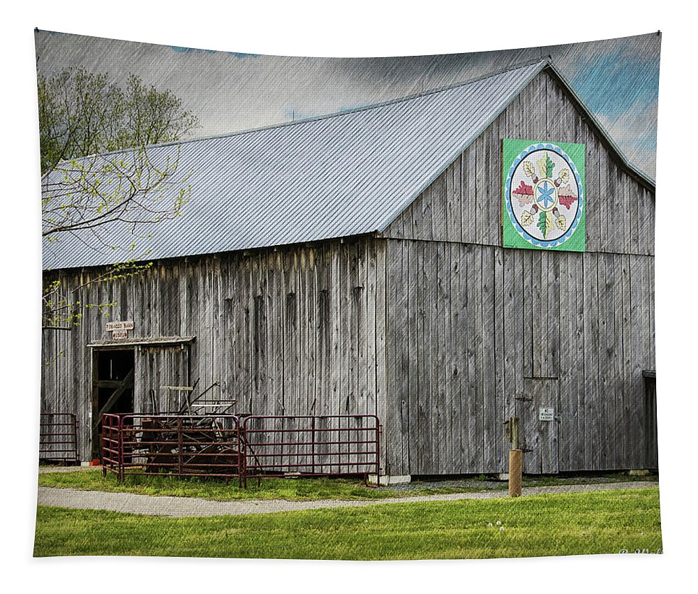 2d Tapestry featuring the photograph Weathered Gray by Brian Wallace