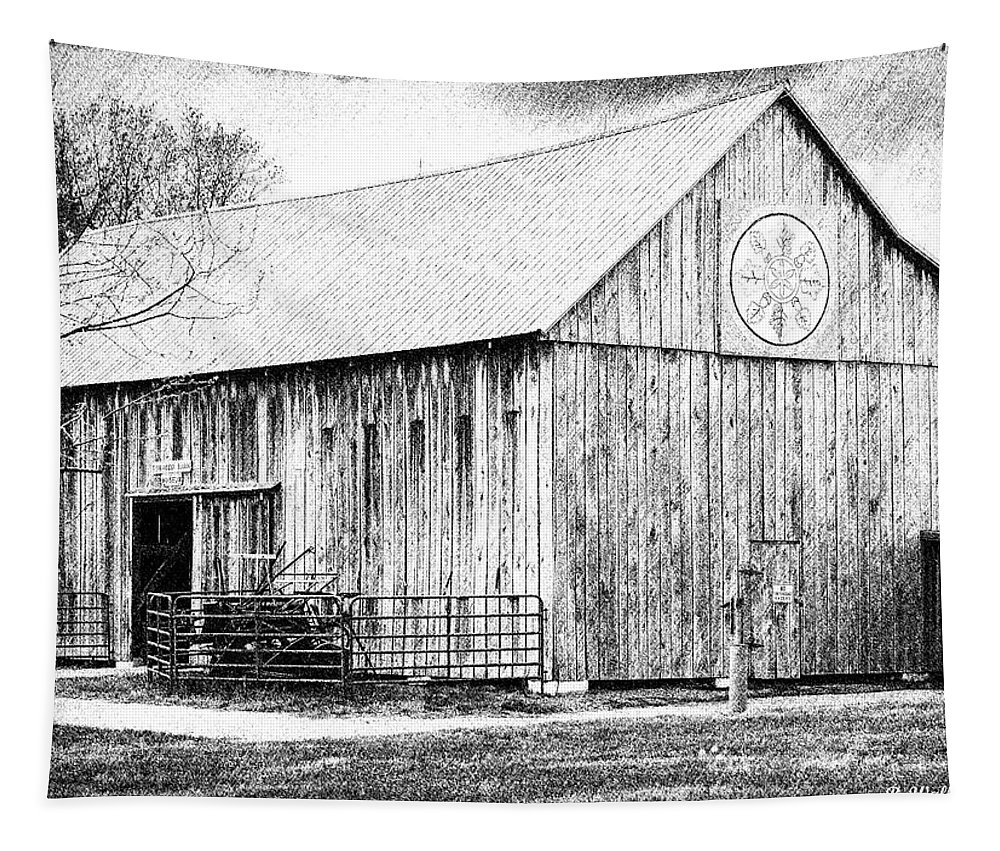 2d Tapestry featuring the photograph Weathered Gray - Bw by Brian Wallace