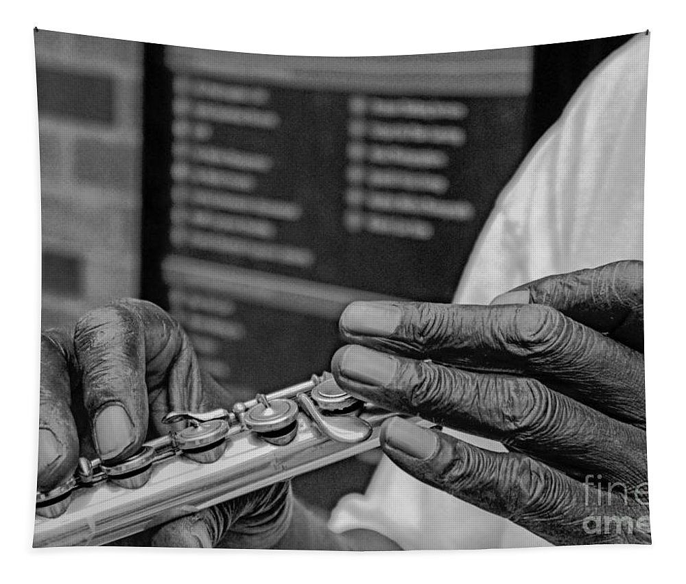 Flute Tapestry featuring the photograph Weathered Hands by Lynn Sprowl