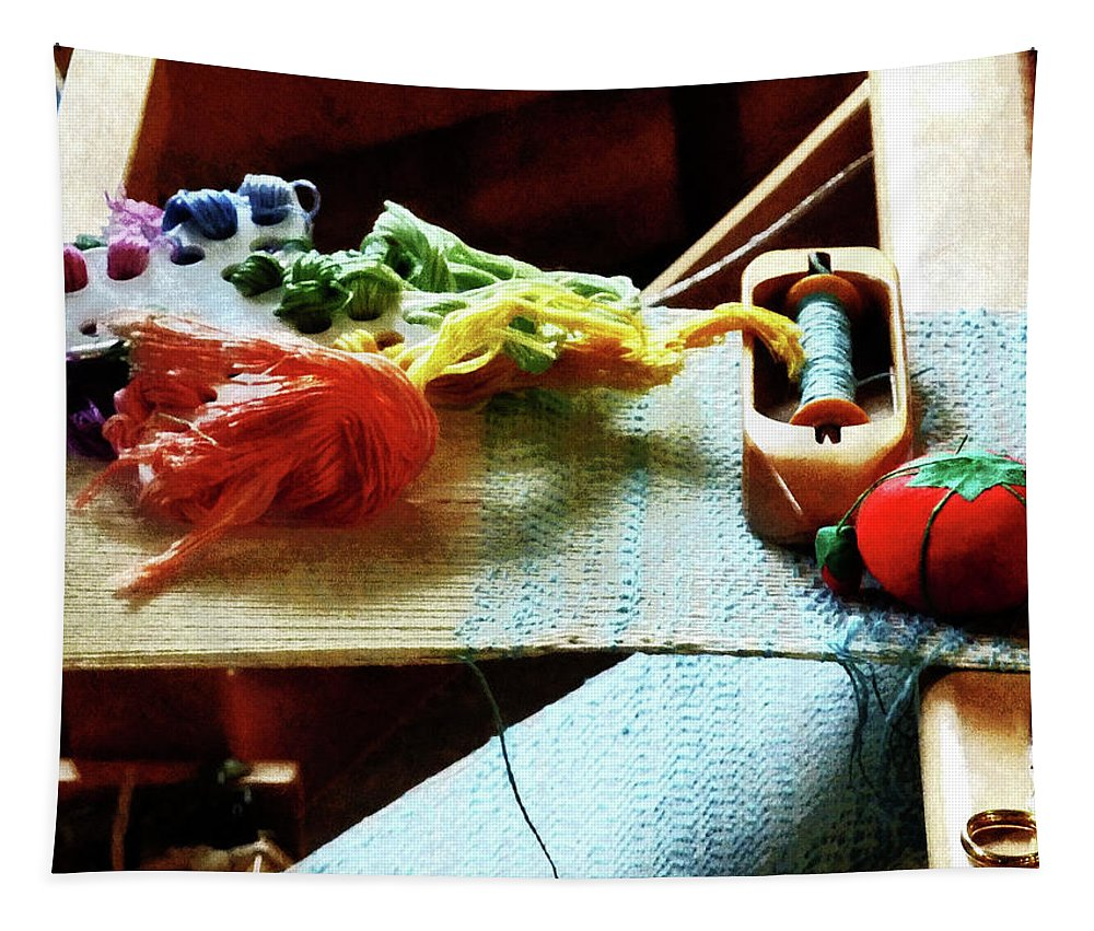 Loom Tapestry featuring the photograph Weaving Supplies by Susan Savad